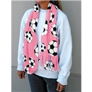 Soccer Ball Fleece Scarf (Pink)