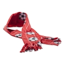 Soccer Ball Fleece Scarf (Red)