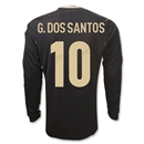 Mexico 11/12 G. DOS SANTOS Away Long Sleeve Soccer Jersey