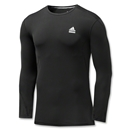 adidas TechFit Fitted Long Sleeve Top (Black)
