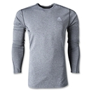 adidas TechFit Fitted Long Sleeve Top (Dk Grey)