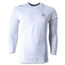adidas TechFit Fitted Long Sleeve Top (White)