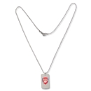 Arsenal Color Dog Tag with Chain