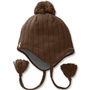 Under Armour Hand Knit Ear Flap Beanie (Brown)