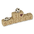 I Love Soccer Block