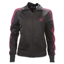 Women's adi Firebird Track Top (Black/Pink)