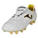 Joma Granada Soccer Shoes (White/Yellow)
