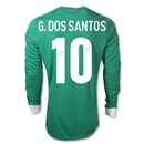 Mexico 11/12 G. DOS SANTOS Home Long Sleeve Soccer Jersey