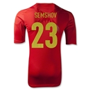 Russia 2012 SEMSHOV Authentic Home Soccer Jersey