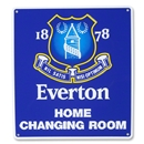 Everton Home Changing Room Sign