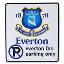 Everton No Parking Sign