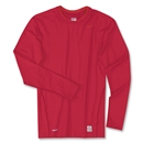 Nike Pro Core Tight LS Crew (Red)