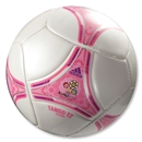 adidas UEFA Euro 2012 Glider Soccer Ball (Zero Metallic/Ultra Pop)