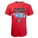Nobody Nutmegs Me T-Shirt (Red)