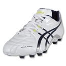 Asics DS Light 5 Cleats (Wide Fit-Pearl White/Navy/Metallic Silver/Limeade)