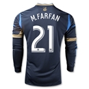 Philadelphia Union 2013 M.FARFAN Authentic LS Primary Soccer Jersey