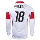 DC United 2013 DELEON LS Authentic Secondary Soccer Jersey