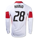 DC United 2013 HAMID LS Authentic Secondary Soccer Jersey