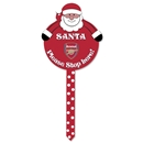 Arsenal Santa Stop Here Sign