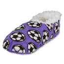Snoozies Soccer Slippers (Purple)