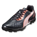PUMA v5.11 TT Turf Shoes (Team Charcoal/White/Fluo Peach)