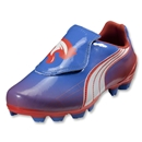 PUMA v4.11 i FG Women's Cleats (Palace Blue/White/Hot Coral)