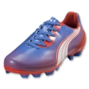PUMA Women's v5.11 I FG Cleats (Palace Blue/White/Hot Coral)