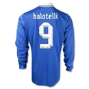 Italy 2012 BALOTELLI Home Long Sleeve Soccer Jersey