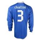 Italy 2012 CHIELLINI Home Long Sleeve Soccer Jersey