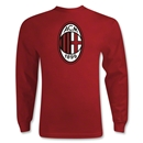 AC Milan Logo LS T-Shirt (Red)