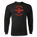 AC Milan Distressed LS T-Shirt (Black)