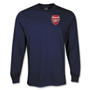 Arsenal LS Crest T-Shirt (Navy)