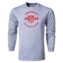 Atletico Madrid Distressed Property LS T-Shirt (Gray)