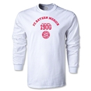 Bayern Munich Distressed Established 1900 LS T-Shirt (White)