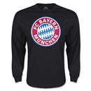Bayern Munich Logo LS T-Shirt (Black)