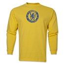 Chelsea Distressed Emblem LS T-Shirt (Yellow)