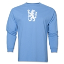 Chelsea Distressed Lion LS T-Shirt (Sky Blue)
