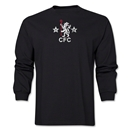 Chelsea Distressed Retro LS T-Shirt (Black)