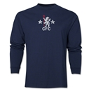 Chelsea Retro Lion LS T-Shirt (Navy)