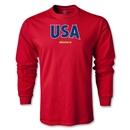 CONCACAF Gold Cup 2013 LS USA T-Shirt (Red)