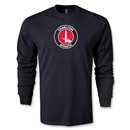 Charlton Athletic Crest LS T-Shirt (Black)