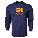 Barcelona Core LS T-Shirt (Navy)