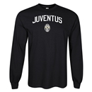 Juventus LS Distressed T-Shirt (Black)