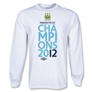 Manchester City 2012 LS League Champions T-Shirt (White)