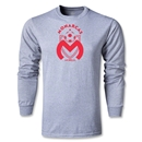 Morelia Monarcas Big Crest LS T-Shirt (Gray)