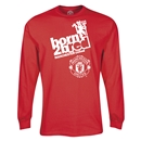 Manchester United Born to B Red LS T-Shirt (Red)