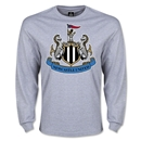 Newcastle United Crest LS T-Shirt (Gray)