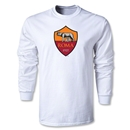 AS Roma Crest LS T-Shirt (White)