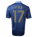 France 12/14 M'VILA Authentic Home Soccer Jersey