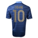France 12/14 ZIDANE Authentic Home Soccer Jersey